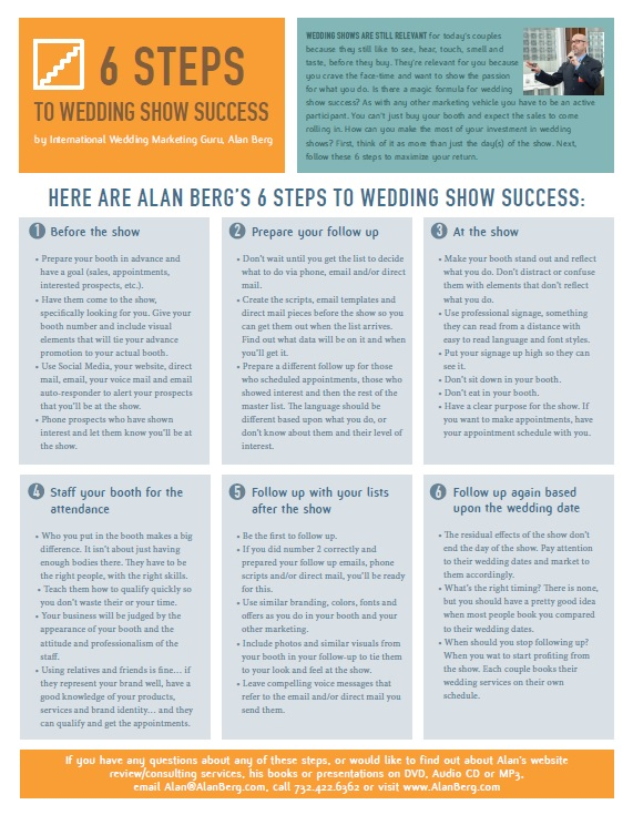 6 Steps for Bridal Show Success